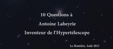 10 questions à Antoine Labeyrie