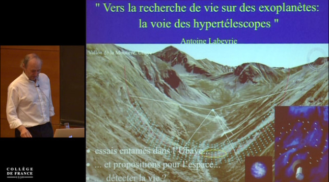 Vers la recherche de vie sur des exoplanètes : La voie des hypertélescopes